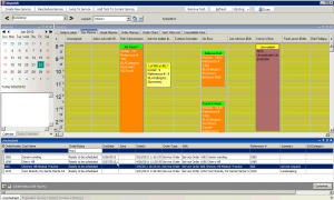 High 5 Software SME Dispatch Section Day Planner Unscheduled Tab Sample Screenshot