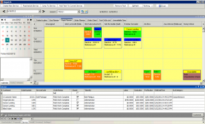 High 5 Software SME Dispatch Section Week Planner Tab Sample Screenshot