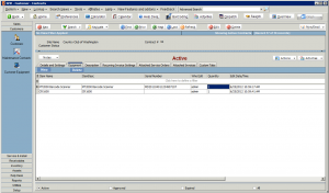 High 5 Software SME Customer Contracts Equipment Sample Screenshot