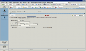 High 5 Software SME Customer Contracts Recurring Invoice Settings Sample Screenshot