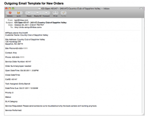 SME Outgoing Email Template for New Orders